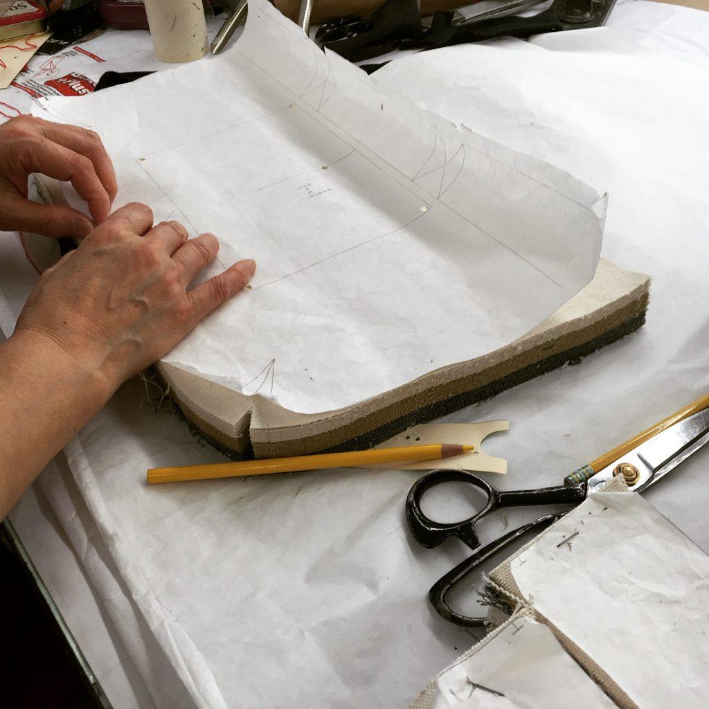 man folding paper